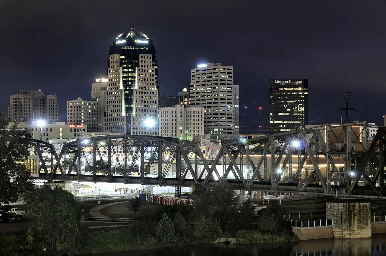1) Shreveport, Louisiana