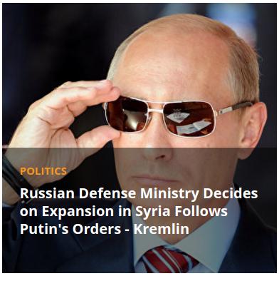 Sputnik image of Putin