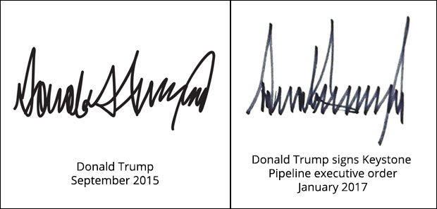 Donald Trump signatures