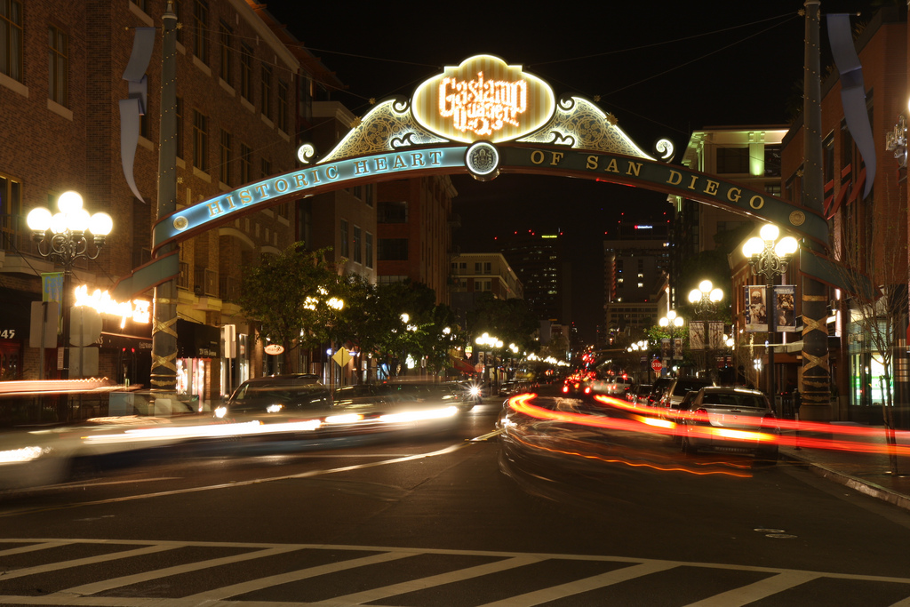 20. 5th Avenue in the Gaslamp Quarter of San Diego