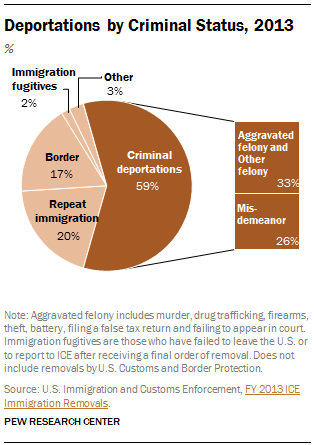Deportations by Criminal Status, 2013