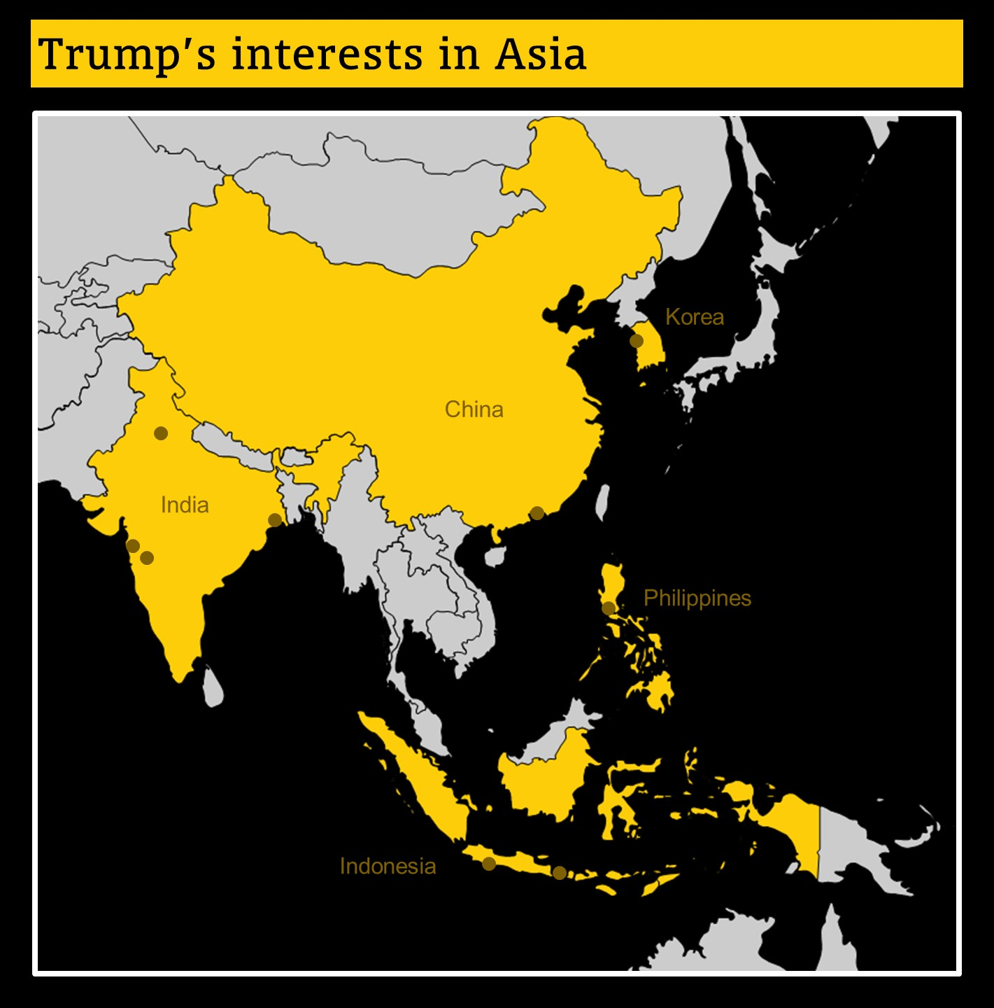 Trump's business interests in Asia