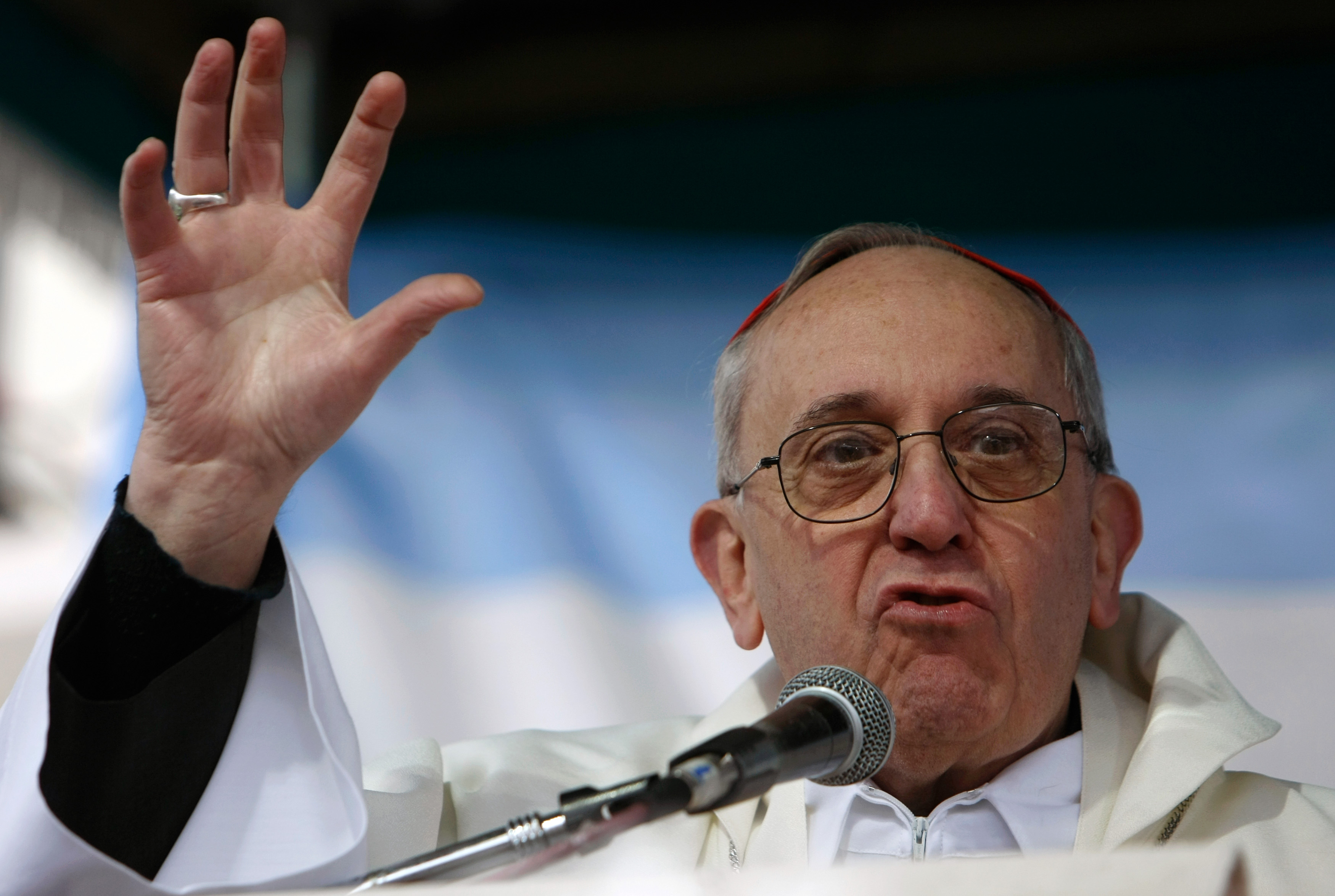 Pope Francis on his world tour