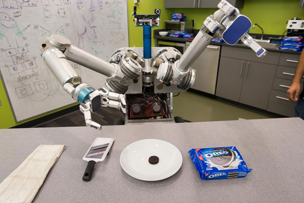 <p>When an elderly person needs dinner,HERB, which stands for Home Exploring Robotic Butler,answers a command given on an iPad. He heads to the freezer, pulls out a frozen meal, microwaves it and brings it to the person – just like that. He was develo