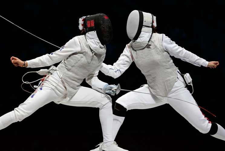 While fencing doesn't come with too much baggage – just a sword and uniform –a full uniform can cost upwards of $1,000, and blades cost about $100 each. For lessons, expect to spend around $100-$150 a month. Maya Lawrence, a 32-year-old Olympic fencer fro