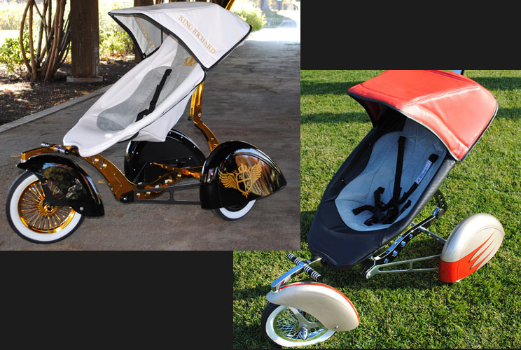"""Think a stroller is just a way to transport your kids? Think again. High-end strollers like those by Bugaboo are flying off the shelves, and run anywhere from $500 to $2,000. One Bugaboo <a href=""""http://www.bugaboo.com/learn/bugaboo-donkey#excite"""" target="""