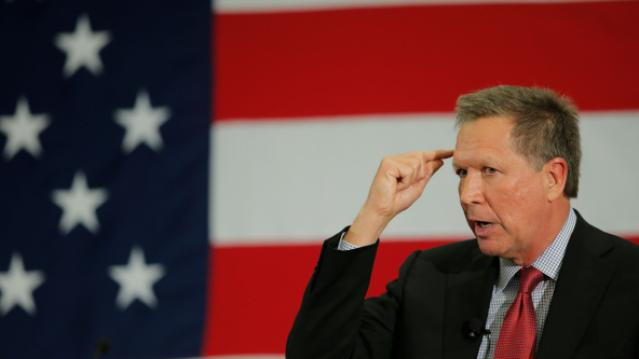 Potential Republican 2016 presidential candidate Ohio Governor John Kasich speaks at the First in the Nation Republican Leadership Conference in Nashua