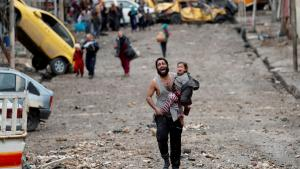 A Picture and its Story: The battle for Mosul: urban warfare and civilian exodus
