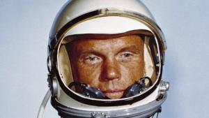 NASA photo of Astronaut John H. Glenn, Jr., in his Mercury flight suit
