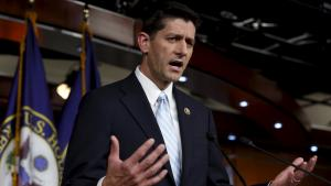U.S. Representative Paul Ryan (R-WI) speaks at a news conference on Capitol Hill in Washington
