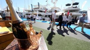FILE PHOTO - Visitors attend the 26th Monaco Yacht show in Monte Carlo port