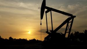 An oil pump is seen in Lagunillas, Ciudad Ojeda, in the state of Zulia