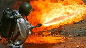 <p>If you feel the need to throw some fire around, you are legally allowed to purchase a flamethrower under federal law, and 40 states have no laws against owning the weapon. Though it's restricted in some states, such as California, unlicensed possessi