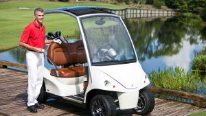 <p>Cost: $50,282</p>    <p>The Garia Golf Car is the most expensive golf cart in the world, according to the U.K.'s Daily Telegraph. It was designed in Denmark and built in a Finnish factory where two of Porsche's sports models are built. This is fittin