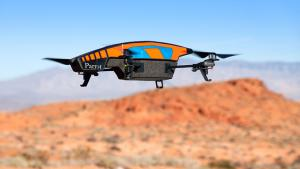 """The Parrot AR is the most popular drone on the consumer market. With a built-in camera capable of capturing 720HD video and Wi-Fi capabilities, it can soar through the sky for roughly18 to 20 minutes. (source: <a href=""""http://www.complex.com/tech/2013/03"""
