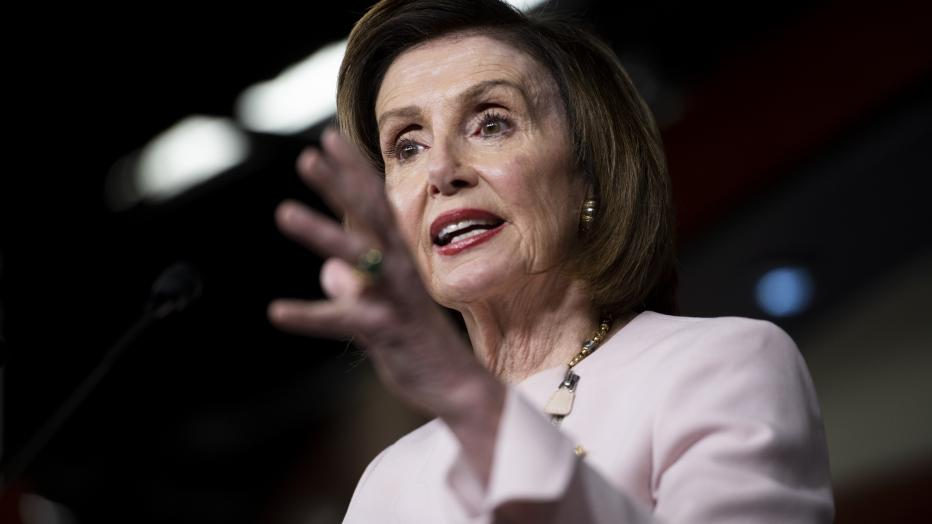 Speaker of the United States House of Representatives Nancy Pelosi (Democrat of California) weekly press conference