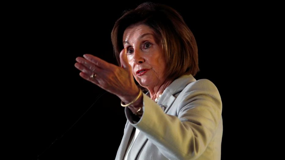 U.S. House Speaker Nancy Pelosi (D-CA) addresses the audience during the Democratic National Committee's (DNC) 2019 Women's Leadership Forum in Washington