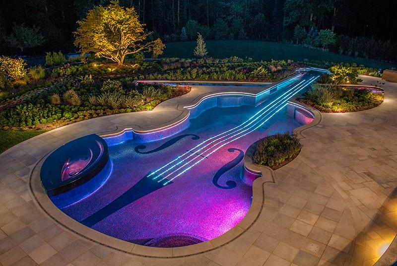 Violin-shaped pool