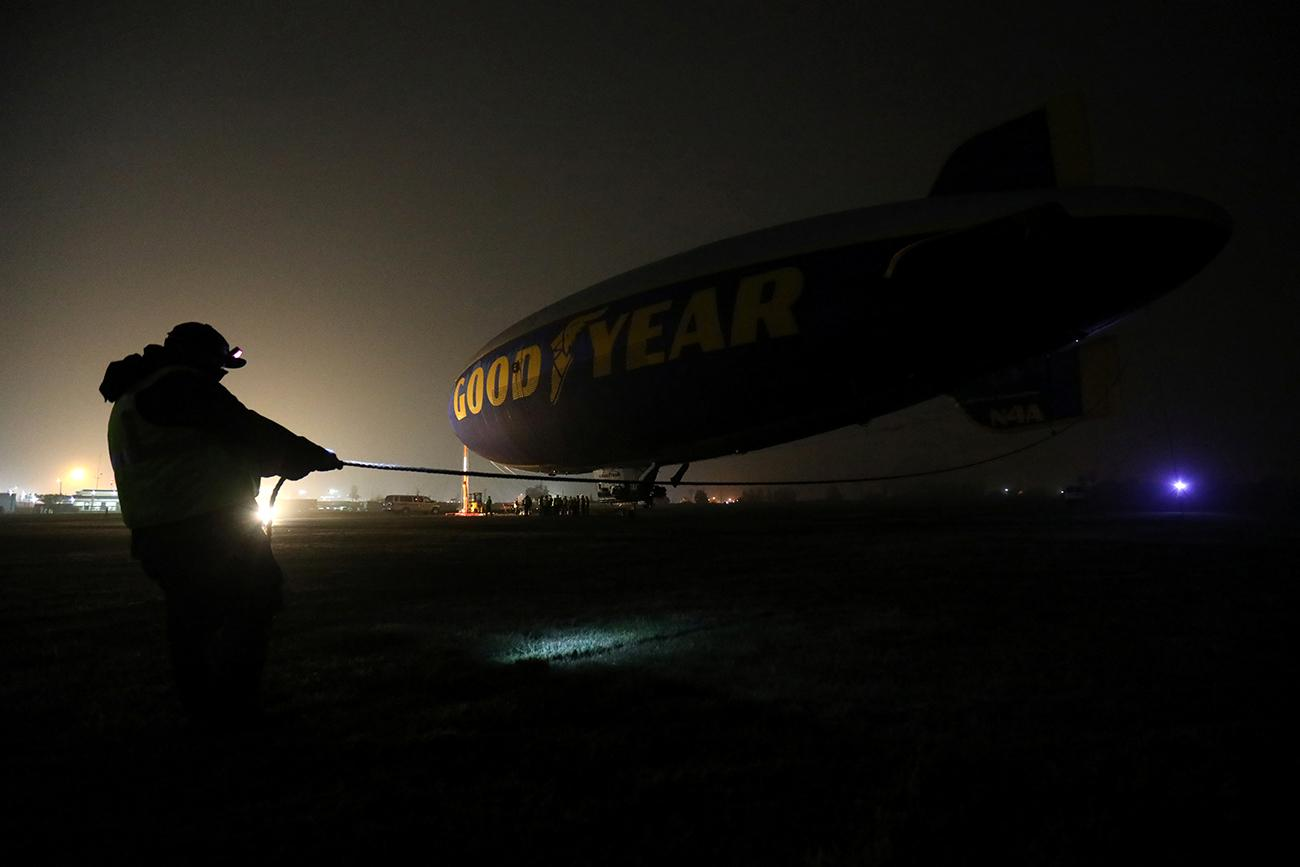 Goodyear blimp decomissioned in California