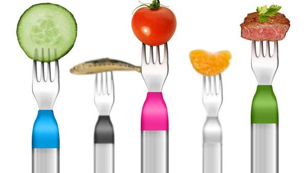 "Useful health product or <a href=""http://www.huffingtonpost.com/2013/01/08/hapifork-buzzing-fork-solution-overeating_n_2433222.html"" target=""_blank"">""the ultimate first-world solution to overeating""</a>? Using a motion sensor, the HAPIfork tracks how quic"