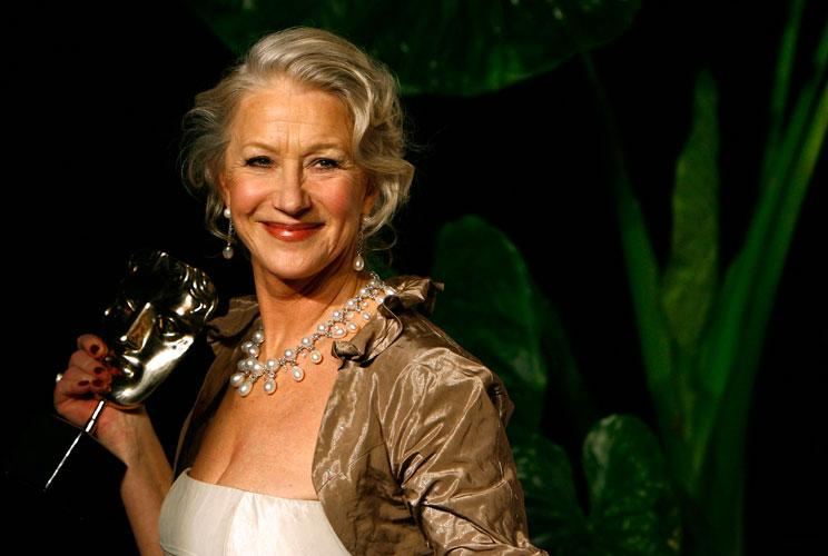 Helen Mirren poses with her Best Actress award at the 2007 BAFTA (British Academy of Film and Television Arts) awards at The Royal Opera House in London.