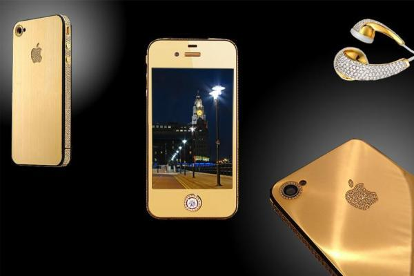 <p>Goldstriker International, a U.K. company, collaborated with designer Stuart Hughes to make the iPhone 4 Supreme Diamond Rose, a gold phone that sold for $8M. Only two were made, so the chance of seeing one in your stocking is remote. Try, instead, t