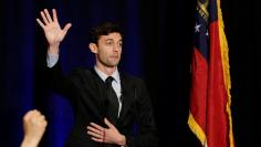 Jon Ossoff speaks to his supports at his Election Night party in Sandy Springs