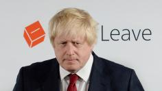 Vote Leave campaign leader Boris Johnson prepares to speak at the group's headquarters in London