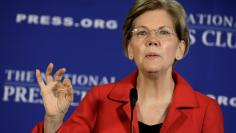 Senator Elizabeth Warren delivers a major policy speech  in Washington