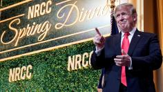 U.S. President Trump speaks at the National Republican Congressional Committee Annual Spring Dinner in Washington.