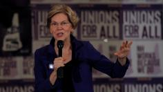 Democratic 2020 U.S. presidential candidate Warren speaks at a SEA/SEIU Local 1984 Member Town Hall in Concord