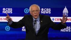 Democratic 2020 U.S. presidential candidate Senator Bernie Sanders speaks at the tenth Democratic 2020 presidential debate at the Gaillard Center in Charleston