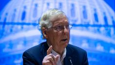 Senate Majority Leader, Mitch McConnell, answers questions during a Q & A at the Kentucky Farm Bureau 2020  United States Senate