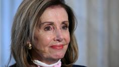 FILE PHOTO: U.S. Speaker of the House Pelosi participates in a TV interview on Capitol Hill in Washington
