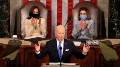 FILE PHOTO: U.S. President Joe Biden's first address to a joint session of the U.S. Congress in Washington
