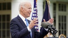 U.S. President Joe Biden speaks about the COVID-19 response in Washington