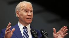 U.S. President Joe Biden and first lady Jill Biden meet with Virginia Governor Ralph Northam