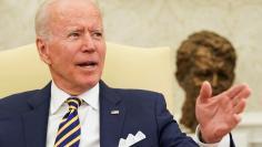 U.S. President Joe Biden meets with Israel's President Reuven Rivlin at the White House in Washington