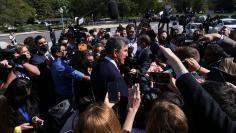 U.S. Senator Joe Manchin faces reporters at the U.S. Capitol in Washington