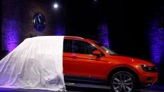 The 2018 Volkswagen Tiguan is unveiled during the North American International Auto Show in Detroit