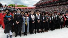 Rutgers University graduates attend 250th commencement exercises