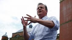 """Britain's Prime Minister David Cameron speaks at a """"Britain Stronger in Europe"""" rally at Birmingham University in Birmingham"""