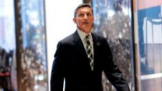Retired U.S. Army Lieutenant General Mike Flynn arrives to meet with U.S. President-elect Donald Trump at Trump Tower in New York City