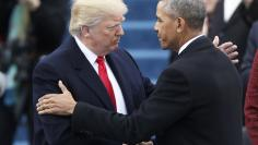 President Barack Obama greets President elect Donald Trump at inauguration ceremonies swearing in Donald Trump as the 45th president of the United States on the West front of the U.S. Capitol in Washington