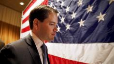 Republican U.S. presidential candidate Senator Marco Rubio arrives for a town hall meeting at the Fisher Community Center in Marshalltown, Iowa