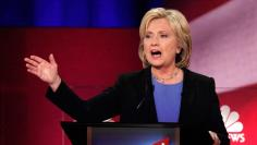 Democratic U.S. presidential candidate former Secretary of State Hillary Clinton speaks at the NBC News - YouTube Democratic presidential candidates debate in Charleston