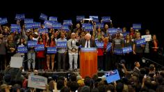 Democratic U.S. presidential candidate Bernie Sanders holds a campaign rally in San Diego