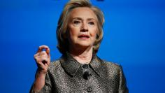 Former U.S. Secretary of State Hillary Clinton speaks during a Gates Foundation event in New York