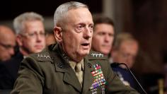 Gen. James Mattis testifies before the Senate Armed Services Committee hearing