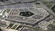An aerial view of the Pentagon building in Washington, June 15, 2005. [U.S. Defense Secretary Donald..